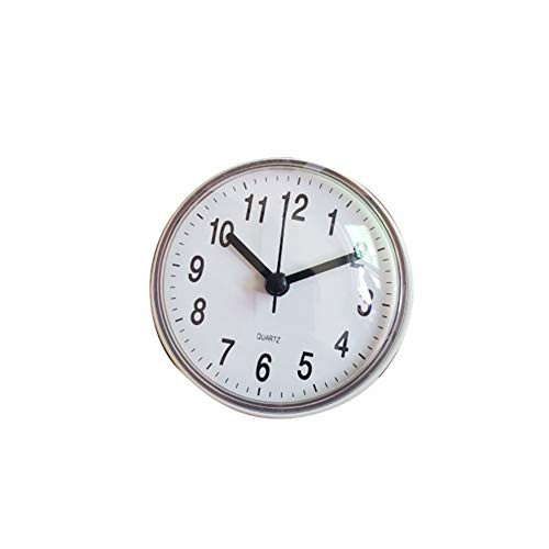 Reloj de pared para azulejos de pared con diseño de reloj de baño antivaho, resistente al agua, reloj de cocina y aseo, pequeño reloj de cuarzo