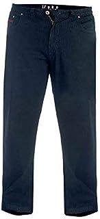 Duke London Jeans Elasticated Waist Balfour Black Mens XXL+ Sizes