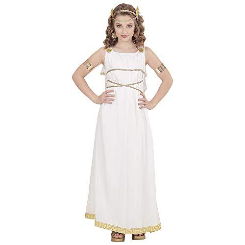 WIDMANN 02906 Kinderkostüm Griechische Göttin, Mädchen, Weiß, 128, 5-7 Jahre
