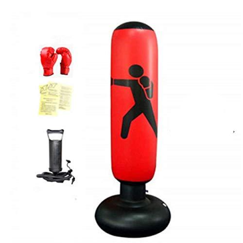 LANGYA 160cm Fitness Punching Bolsa de Agua Estanda Bomba Inflable Punching Bolsa Niños Saco de Arena Boxeo Bolsa de Objetivo para niños y Adultos (Conjunto de 4 Piezas)