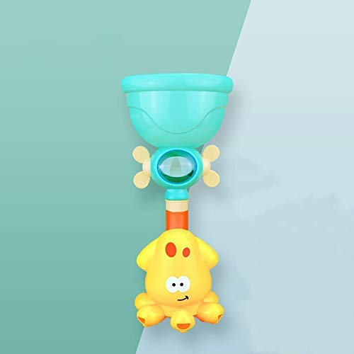 Lovely Juguetes Baby Bath Toys Spray Agua Ducha Piscina de natación Juguetes de baño para niños Spinning Boat con leones de juguete Juguetes de bañera para niños pequeños Niños (Color: Diseño1 León)