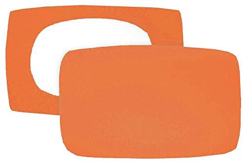 Home Edition 2er Pack Spannbezug für Nackenstützkissen Baumwolljersey (mit Elasthan) 36x50 bis 36x60 cm (Terra)