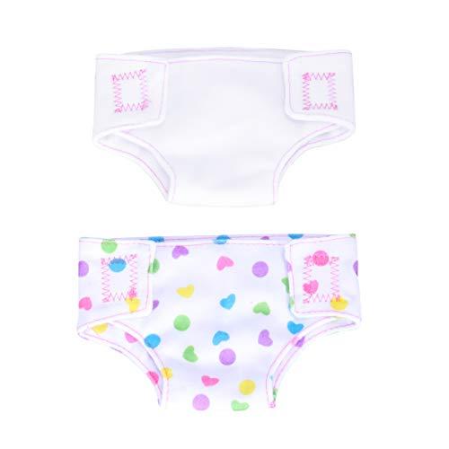 TOYANDONA - Pañales de muñeca reutilizables para ropa interior de muñeca ajustable para bebé de 14 a 18 pulgadas