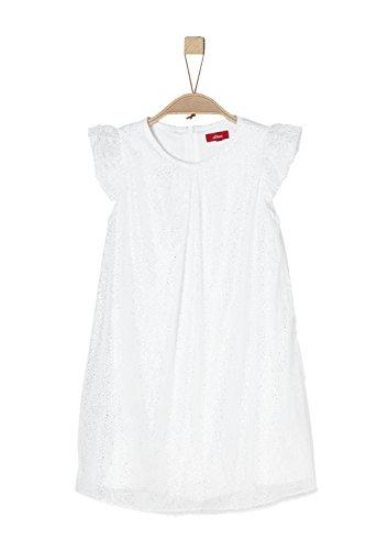 s.Oliver Mädchen 58.802.82.2754 Kleid, Weiß (White Multicolored Stripe 01S3), 128