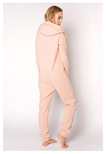 Eight2Nine Damen Sweat Overall | Kuscheliger Jumpsuit | Einteiler aus bequemen Sweat-Material einfarbig Rose L/XL - 5