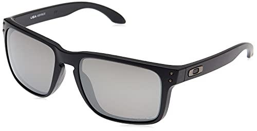 Oakley Men's OO9417 Holbrook XL Square Sunglasses, Matte Black/Prizm Black Polarized, 59 mm