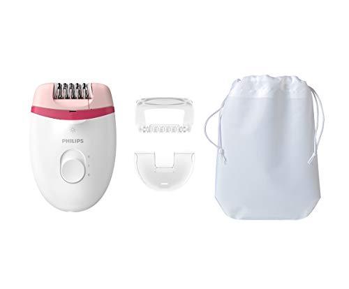 Philips Satinelle Essential - Depiladora (Rosa, Blanco, 15 V, Ergonómico)