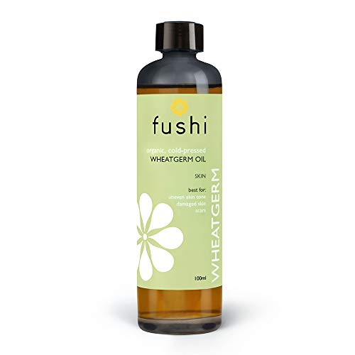 Fushi Organic Wheatgerm Oil 100ml | Virgin & Fresh-Pressed | Rich in Vitamins, Minerals, Protein & Essential Fatty Acids | for Uneven Skin Tone, Damaged Skin & Scars | Ethical, Vegan & Made in The UK