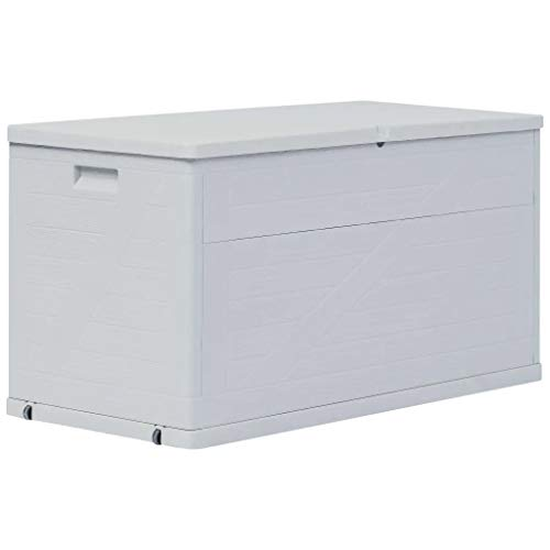Sunlight Garden Storage Box Shed Outdoor Fruniture Patio Tool Box 420 L Light Grey