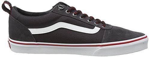 Vans Herren Ward Suede/Canvas Sneaker, Schwarz ((Outdoor) Obsidian/White Syo), 46 EU