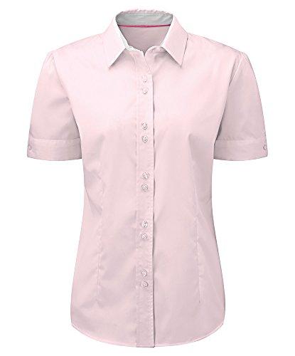 Alexandra STC-NF85PI-10 dames shirt met korte mouwen, effen 0% katoen, maat 10, roze