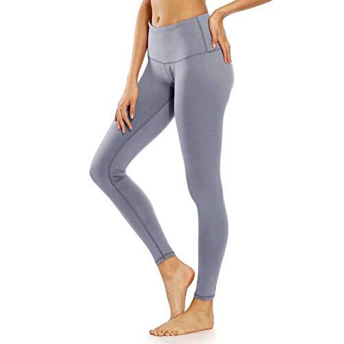 YUJIAKU 2018 Mujeres Deporte Pantalones Apretados Tallas Grandes 2XL Cintura Elástica Sólida Estiramiento Delgado Fitness Yoga Correr Gimnasio Ejercicio Leggings de Entrenamiento
