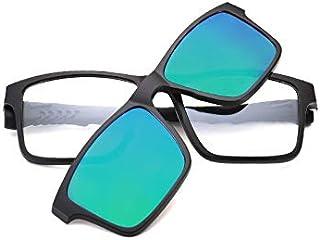 ebb5cb9a4b LKVNHP Cuadrado con Imán Polarizado En Las Gafas De Sol Mujer Hombre  Titanio Gafas De Sol