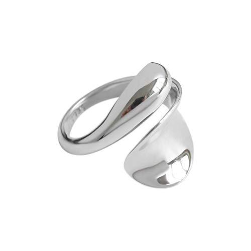 OSALAD 925 Sterling Silver Large Plain Snake Rizable Rings Women Luxury Gold Rock Punk Adjustable Statement Jewelry