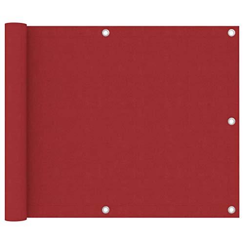 Balkon Sichtschutz und Rechteckige Schutzwände, Balkonschutz, Rot, Oxford Tuch, 75 X 300 Cm, 12 M PE-Seil, Wasser- und Windabweisend