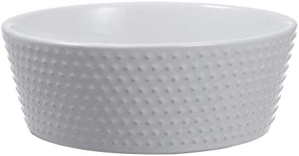 Gourd Ceramic Non Slip Dog Bowl White 7 Inch 4 Cup Capacity product image
