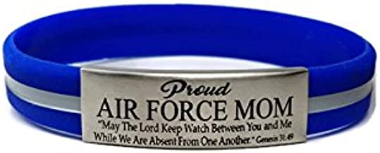 Air Force Mom Personalized Bangle Bracelet