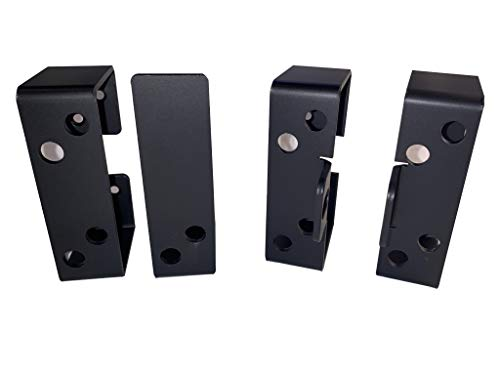 Shed, Barn, Gate 2x4 Bar Holder Kit with Security (Black)