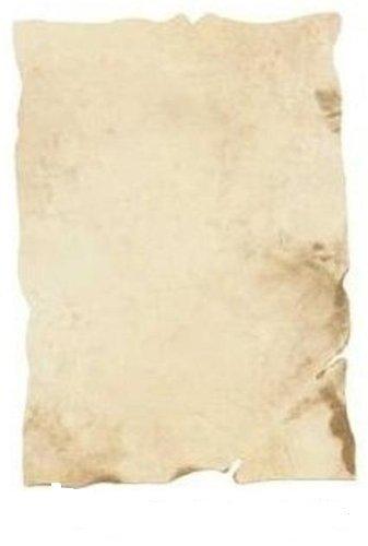 Dokumentenpapier antik 21 x 30 cm hellbraun gemustert 10 Blatt