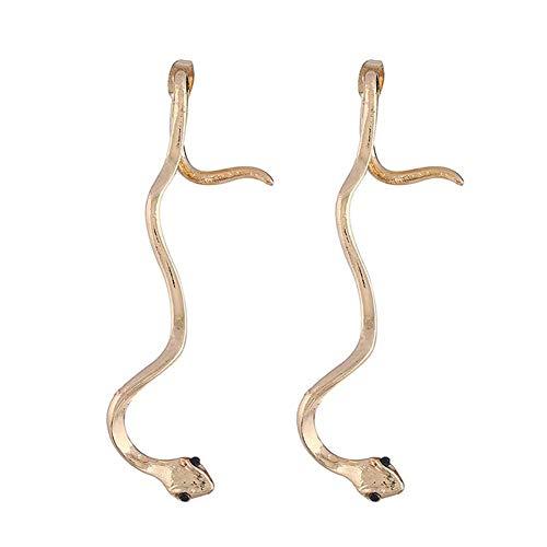 Pendientes Creativos Serpiente Pendientes Largos Femeninos Temperamento Simple Oreja