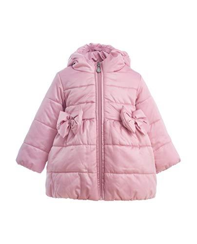 GULLIVER Kinder Baby Mädchen Daunenmantel Mantel tailliert Farbe Rosa Pink Lang mit Kapuze und Zip Lang für Winter, Rosa, Gr.- 80 cm ( 12 Monate)