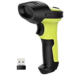 Inateck Barcode Scanner Wireless 2.4 GHz, 35 m range, automatic fast and accurate scanning, 15 days of continuous operation, BCST-60