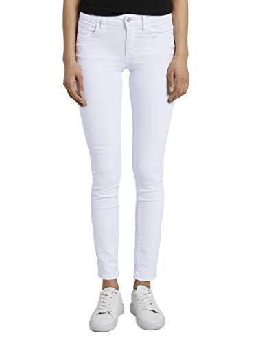 TOM TAILOR Damen Jeanshosen Alexa Slim Jeans White Denim,32/32