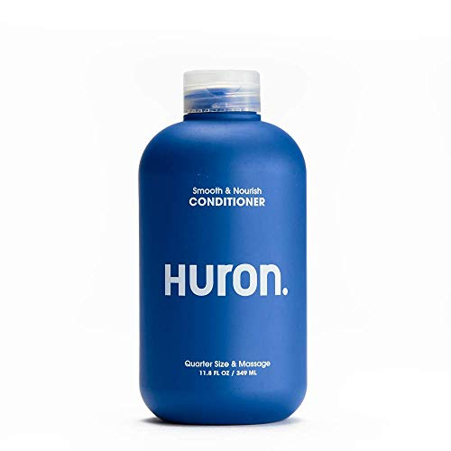 Huron - Men's Smooth & Nourish Conditioner. Lightweight conditioner rehydrates as it moisturizes, smoothes frizz, and restores shine. Fresh, clean scent. Sulfate-free. 100% vegan. 12 oz