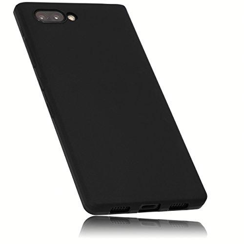 mumbi Hülle kompatibel mit BlackBerry Key2 Handy Hülle Handyhülle, schwarz