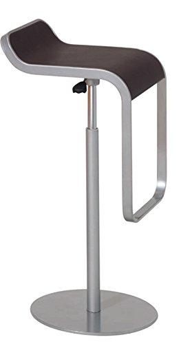 LEBER Taburete Onza tapizado. Estructura Aluminio. Elevación a Gas. Giratorio para Barra de Bar/Restaurante