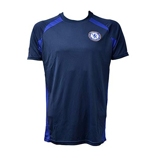 チェルシー フットボールクラブ Chelsea FC オフィシャル商品 メンズ ネイビー サッカーシャツ (XXL) (ブルー)