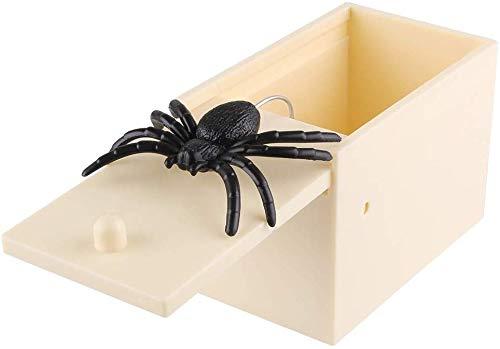 Boite Surprise Araignee, Prank Scare Spider Surprise Avec Araignee Broma Réaliste Box Cadeau Gag pour Enfant et Adulte