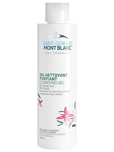 Gel nettoyant purifiant visage - Eau thermale, Epilobe alpin BIO anti-inflammatoire, acide salicylique - peaux mixtes à grasses même sensibles - 200 ml - Saint-Gervais Mont Blanc