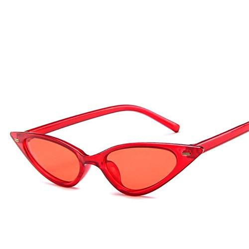 NZHK 1pc Gafas de Sol Cateye Vendimia de Las Mujeres Retro Atractivo del pequeño Gato de Ojos Gafas de Sol Marca de diseño de Colores Eyewear for Mujer Gafas de Sol polarizadas (Color : B)