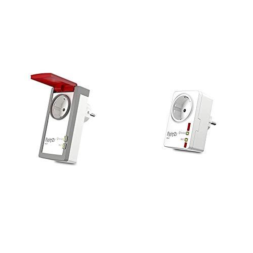 AVM Fritz!DECT 210 (intelligente Steckdose für Smart Home, mit Spritzwasserschutz für Einsatz im Außenbereich) & Fritz!DECT 200 - Intelligente Steckdose für das Heimnetz, deutschsprachige Version