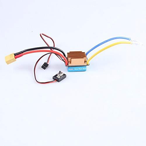 Ocday 5-13V 320A Impermeable 3S 60A Cepillo Motor Gobernador electrónico para 1/10 RC Car ( Color : Without Fan XT60 )