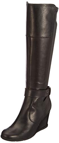 Geox Damen D Inspiration Wedge B Stiefel, Schwarz (Black), 35 EU