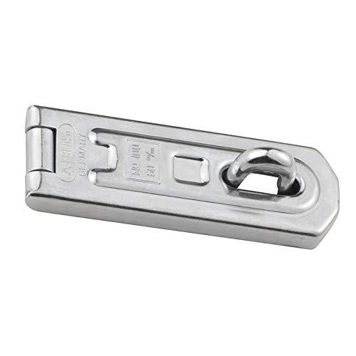 ABUS Überfalle 100/60 - Vorrichtung für Vorhängeschlösser - für einschlagende Türen - 01434 - Level 4 - Silberfarben