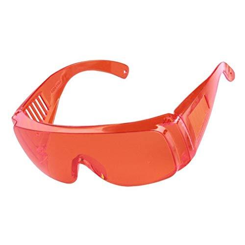 TW1000 Gafas de protección Laboral Industrial Gafas Protectoras de Infrarrojos Anti láser Lentes de PC Antivaho Anti-UV Antiimpacto Gafas (Naranja Rojo)
