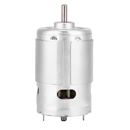 Moteur à courant continu 12V 3000 tr min Double moteur à engrenages à roulement à billes pour Machines de découpe pour scies à ruban pour scies à fil