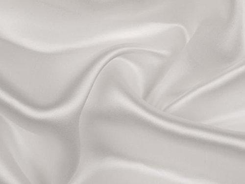Reiner Seidensatin, weiß, 140cm