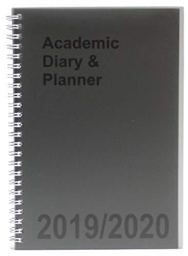 Agenda escolar A5 2019-2020 espiral semana vista con bolígrafo retráctil, color gris