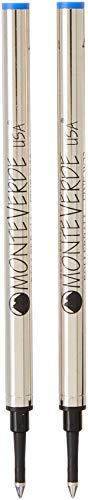 Monteverde - Recambio para bolígrafo roller Waterman, trazo fino, 2 unidades, color azul