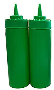 Green BPA Free Squeeze Bottle Food Prep 12 oz for Hot Sauces Condiments Dressings  2