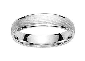 DRISS-www.diamants-perles.com-Alliance, matrimonio, oro bianco, 750/1000-18 carati, larghezza 5 mm, Oro bianco 750/1000, 29, cod. FB2113995-69
