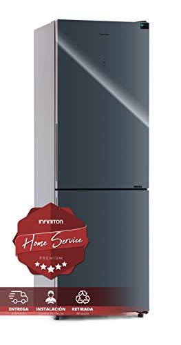 FRIGORIFICO COMBI CRYSTAL GLASS FGC-881 INFINITON (A++, GRIS, Alto 185cm, NO FROST TOTAL) INSTALACION INCLUIDA