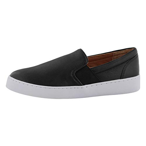 Vionic Women's Splendid Demetra Slip On Casual Shoe - Ladies Everyday Walking Shoes with Concealed Orthotic Arch Support Black 8 M US