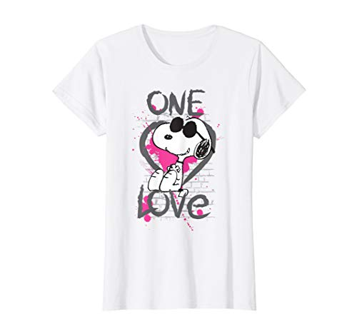 Damen Peanuts Snoopy Graphic One Love T-Shirt