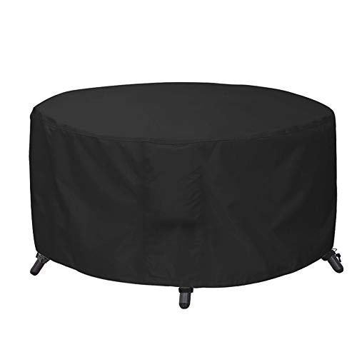 AWNIC Garden Furniture Covers Waterproof Round Garden Table Cover Windproof Anti-UV Tear Resistant Oxford for Outdoor Furniture Set Spa Cover for Lay Z Hot Tub Ø190X71cm