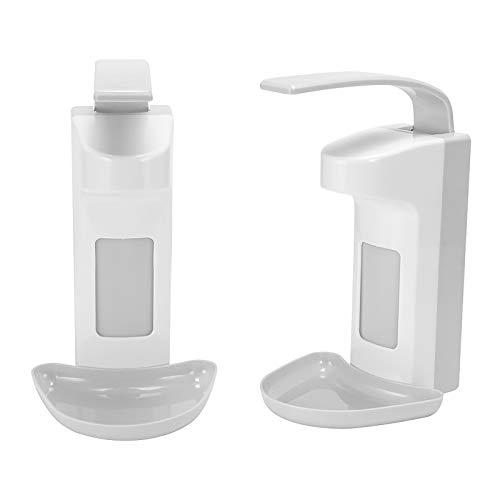 Blingbin Desinfektionsmittelspender 1000ML, 2 in 1 Wandspender, Sprühen/Tropfen Seifenspender, Elbow Pressure Handwaschspender für Küche, WC (Weiß + Keine Nagelaufkleber) (500ml ABS)